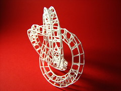 Simple Star Trefoil Knot (fdecomite) Tags: 3d printing math blender povray shapeways