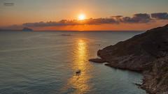 Sea Lights. (dasanes77) Tags: sea sun sunrise landscape lights rocks ship canonef24105mmf4lisusm anawesomeshot canoneos5dmarkii cloudsonline