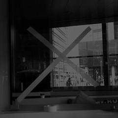 Rotterdam werkt aan het Centraal Station (Harry -[ The Travel ]- Marmot) Tags: street city urban blackandwhite bw holland art window netherlands monochrome dutch station architecture modern dark square rotterdam darkness cross artistic zwartwit nederland bahnhof moderne railwaystation stedelijk cs metropolis absract stad hollands 010 architectuur raam werkzaamheden donker ov openbaarvervoer kruis vierkant 500x500 monochroom rotterdamcs schwarzweis duister rotterdamcentraalstation havenstad afgekruisd