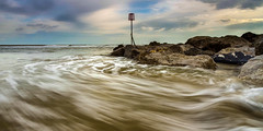 Swell o' Hayling (Howard Brown) Tags: uk seascape beach landscape rocks waves harbour hayling shoreline portsmouth swell groyne stormsurge rockery rockpools emsworth ultrawideangle southengland leefilters emsworthchannel ukshoreline