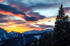 Alpine sunset (fede_gen88) Tags: trees winter sunset italy snow mountains alps cold clouds montagne nikon italia snowy valle monte peaks alpi orobie bergamo lombardia lombardy avaro brembana pianidellavaro d5100