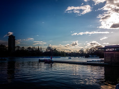 An Evening on the Serpentine (garryknight) Tags: lake london mobile boat nokia phone cellphone rowing hydepark waterside serpentine pedalo lightroom rowingboat lumia930 ononephoto10