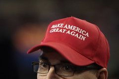 Make America Great Again hat (Gage Skidmore) Tags: arizona phoenix make hat america memorial state fairground rally great donald again coliseum trump campaign veterans 2016