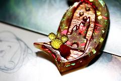 Brooches by Jolly Hollieday (jollyhollieday) Tags: disney disneyland handmade jewelry brooches pins magic kingdom walt brooch macro glitter sparkle jolly hollieday hollie day d movies entertainment pin cards etsy