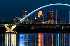 MN_1174_20140826_4912x7360.jpg (Joe Mamer) Tags: city travel bridge blue urban reflection tourism water minnesota skyline architecture night river landscape flow design community midwest arch bend arc scenic minneapolis architectural nighttime mississippiriver northamerica destination flowing suspended twincities curve population suspensionbridge mn span connection afterdark archbridge urbanarea lowrybridge tiedarchbridge arced builtstructure minnesotalandscape lowryavenue