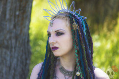 _MG_7369 (Deadly Darling DP) Tags: trees woman dreadlocks dark model woods gothic goth bellydancer jewelry dancer crown bracelets bangles