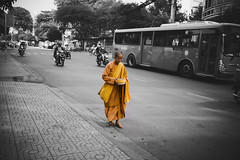 The Spirit of Asia (desomnis) Tags: asia southeastasia buddhist religion streetphotography vietnam traveling spiritual hochiminhcity hcmc buddhistmonk travelphotography southvietnam buddishm sigma35mm selectivcolor canoneos6d desmonis