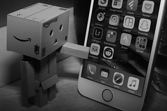 Why is my icon there (?) (iamWing_) Tags: acros apple bw cardboard danbo danboard fuji fujifilm google metz monochrome revoltech xpro2 xf35 amazon ios iphone iphone6s