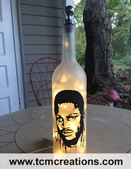 Joe Frazier (TCM Creations) Tags: glass lamp bar bottle pub fighter wine joe tavern leds boxing saloon smokin frazier mancave