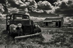 Whispers of the past (AjayGoel2011) Tags: world bw usa color monochrome car barn america landscape nikon ruins decay explore creativecommons ghosttown bodie nikkor westcoast decisivemoment ajaygoel flickriver