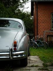 Bicycles (S_Artur_M) Tags: travel lumix skne sweden schweden panasonic mk2 oldtimer sverige jaguar tz10