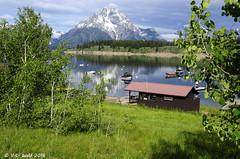 Mount Moran, Boat Rentals Kiosk (V. C. Wald) Tags: mountmoran grandtetonnationalpark jacksonlake signalmountainlodge