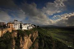 Ronda - Andaluca - Espaa (Garciamartn) Tags: espaa naturaleza primavera andaluca paisaje ronda nubes nino mlaga prados acantilados garciamartn