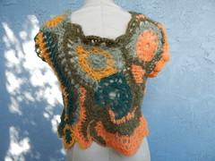 Freeform lace vest back (atgaiva) Tags: crochet freeform