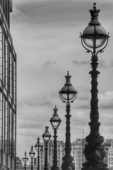 Lighting London (The Eclectic Mix) Tags: lighting uk summer blackandwhite bw white black london lamp monochrome thames contrast canon river noiretblanc decorative capital july southbank ornate schwarzundweiss eos7d nickfewings
