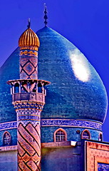 Khillani Mosque Baghdad, 75 deads in 2007 attack (gerard eder) Tags: world travel ruins asia outdoor iraq middleeast mosque viajes cupola baghdad gebude reise ruinen huser kuppel mesquita moschee beforewar attackedmosque