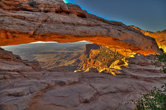 Mesa Arch, HDR (mghornak) Tags: mesaarch canyonlandsnationalpark canon canoneos5dmarkii hdr landscape sunrise morning