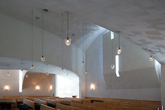 Chapel of St. Ignatius (See.jay) Tags: seattle washington usa seattleuniversity interior bottlesoflight stevenholl architects naturallight chapel chapelofstignatius stignatius jesuit catholic lighting coloredglass lightbaffles handblownglass glasslightfittings pews lightwell sacredspace rakedplaster plaster texture