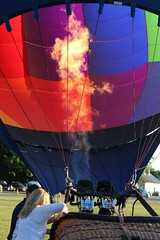 IMG_1584 (thehachland) Tags: sunset fire flames balloon hotairballoons ballstonspa saratogacounty saratogacountyfairgrounds saratogaballoonandcraft