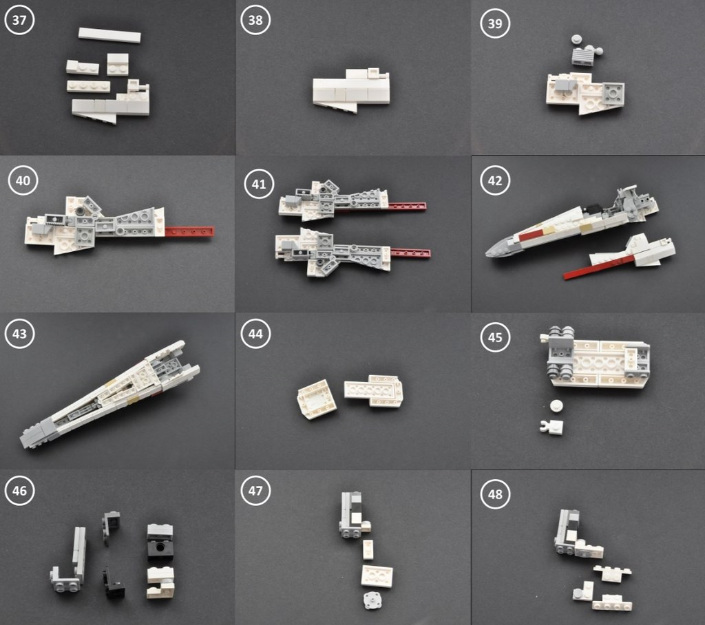 lego star wars red five x wing starfighter instructions