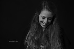 Portrait (elenamalossini) Tags: portrait people blackandwhite bw italy white black girl smile person nikon flash indoor