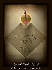 Nice weekend (patrick.verstappen) Tags: texture textured writing duck photo picassa pinterest pat ipernity ipiccy gingelom google belgium nikon d7100 flickr facebook summer june