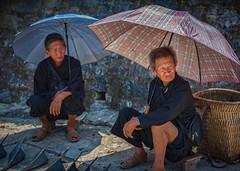 Men at the market day (FineArt2C) Tags: people markets vietnam sapa mucangchai ethnicminoritytribe trishedwardsphotographerdigitalartist