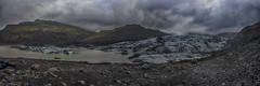 Solheimajokull Glacier in Iceland (Nick L) Tags: panorama rain canon landscape eos iceland glacier 5d moraine mrdalsjkull glaciallake solheimajokull southerniceland solheimajokullglacier 5d3 2470li