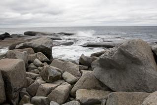 Waves and granite, Peggy's Cove, St. Margarets Bay, Nova Scotia