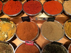 Beautiful Spices (amy's pixels) Tags: spices bowls red circles round grandcentralterminal spicemarket delicious