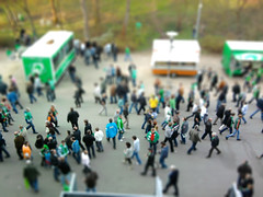 After the match (Bjrn Giesenbauer) Tags: football stadium match bremen bundesliga werder weserstadion faketiltshift