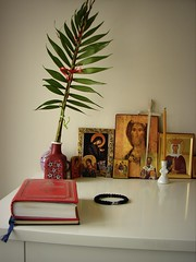 Palm Sunday (miradel) Tags: hope one truth day god prayer sunday mother icon mama palm christian together simplicity christianity simple orthodox orthodoxy matka theotokos ikona  granatowy  bogurodzica  nieczarny czarnytobrakbogapieko