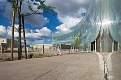 The Aperture Center at Mesa del Sol, Antoine Predock, Architect (Mitch Tillison Photography) Tags: newmexico reflection architecture modern facade reflecting architect curtainwall mesadelsol pentaxk5 mitchtillison leedscertification aperturecenter antoinepredcock