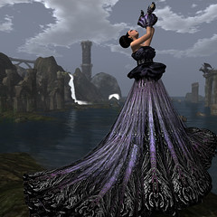 Bliss Couture - Calima Gown (Ashraya Project) (Kay Fairey) Tags: charity makeup secondlife formalwear limitededition exclusive blackliquid slfashion slmodel fashionevent kayfairey blisscouture chopzuey loovusdzevavor ashrayaproject