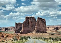 Arches National Park Utah (saxonfenken) Tags: road car landscape utah rocks solitude cloudy superhero thumbsup twothumbsup bigmomma 6889 thumbwrestler challengeyou favescontestwinner a3b friendlychallenges thechallengefactory fotocompetition fotocompetitionbronze yourockwinner yourockunanimous herowinner gamex2sweepwinner pregamewinner gamesweepwinner favescontestfavored 6889land