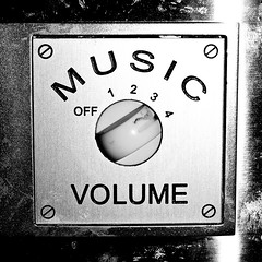 Turn It Up (goodbyetrouble) Tags: bw music up turn switch olympus musik volume schalter lautstrke e450 aufdrehen