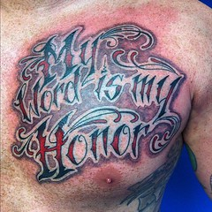 Did this yesterday. #neotat #visualvortex #scottwhite #alteredstatetattoo #lettering