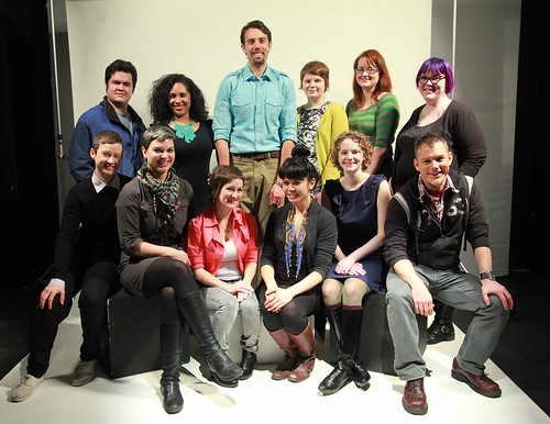 2012 Interdisciplinary Arts & Media Thesis Class (Photo Credit: Ahmad Hamad)