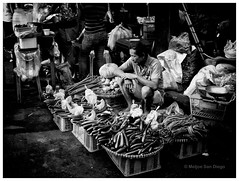 Market Vendor [Explored] (Meljoe San Diego) Tags: street bw vegetables fuji market philippines streetphotography explore vendor x10 meljoesandiego