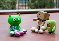 The Toys' Easter 2012 (15/52) (vmabney) Tags: easter toys chocolate ugly domo eggs uglydolls danbo danboard