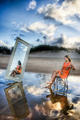 Angled (dazza17 - DJ) Tags: portrait mirror models spit australia strobe goldcoast goldcoastgoldcoast fulllenth daryljamesscapeslandscapes