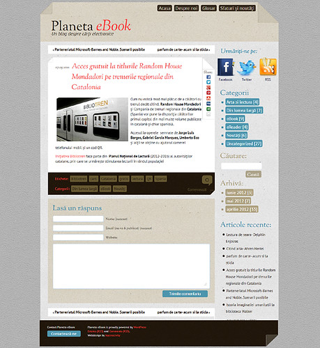 Planeta eBook - single page