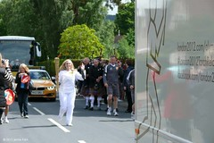 Scone runner (P&KC Archive) Tags: sport photography scotland community perthshire streetscene celebration 20thcentury relay olympicflame torchrelay localhistory olympictorch torchbearers historicevent civicpride perthandkinross ecsochistory recordinghistory