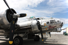 """Boeing B-17G Flying Fortress """"Sentimental Journey"""" (c0yote) Tags: aircraft aviation wwii airshow b17 journey boeing flyingfortress caf warbird sentimental sentimentaljourney b17g painefield kpae commemorativeairforce flyingheritagecollection flyinghistory canonefs1855mmf3556is"""