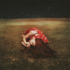 Forgotten Shores (Shelby Robinson) Tags: ocean red portrait shells storm beach water girl night clouds self canon dark stars rebel 50mm sand rocks waves dress bokeh lonely splash f18 har teenage t1i