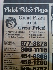Pistol Pete's PIzza early 90s (frankasu03) Tags: kids ads restaurant hangouts pizza 80s pistol 90s petes