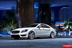 Mercedes CLS - VVSCV5 (VossenWheels) Tags: night mercedes miami deep concave cls cv5 vvscv5