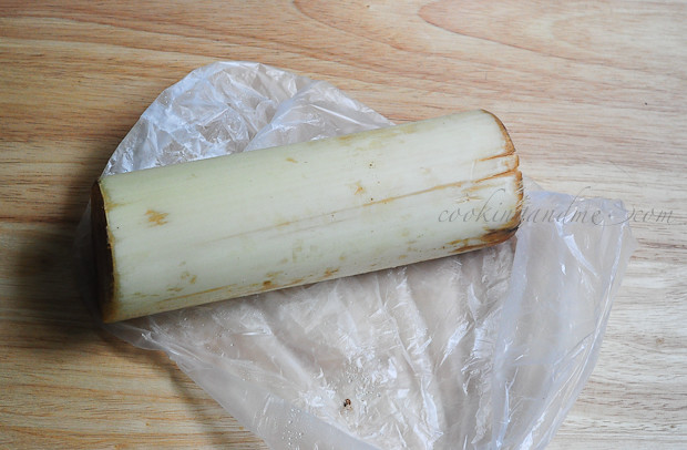 How to prepare banana stem for cooking