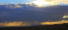 Abbotsbury Sunset (HDR) (Mark R Farrington) Tags: light southwest slr beach beautiful clouds digital canon photography eos evening pretty sunsets dorset hdr sunray 550d desc2012