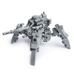 B-7 KriegsLufer (Fredoichi) Tags: robot lego space military walker micro mecha mech microscale dieselpunk fredoichi